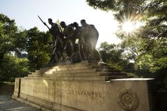 中央公园军事纪念碑 免版税图库摄影