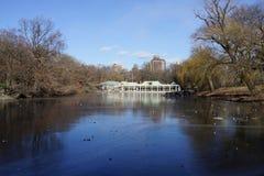 中央公园冬天2016 36 库存照片