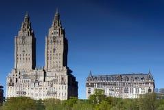 中央公园反映起波纹 免版税库存图片