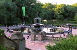 中央公园喷泉,纽约 库存照片