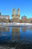 中央公园在冬天, NYC 库存图片