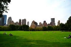 中央公园在夏天 免版税库存照片