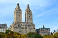 中央公园在秋天 曼哈顿新的美国约克 免版税图库摄影