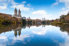 中央公园在11月 库存图片