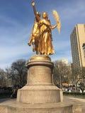 中央公园天使  免版税库存照片