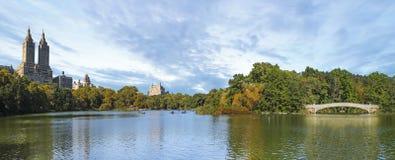 中央公园巨大的全景在纽约 免版税库存照片