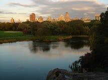 从中央公园的都市风景 免版税库存图片