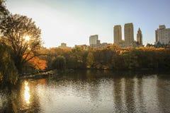 中央公园纽约日出 免版税库存照片