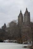 从中央公园西部的黄金国  免版税库存图片