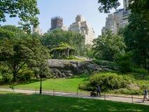中央公园视图在曼哈顿,纽约 图库摄影
