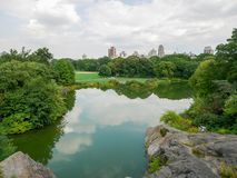 中央公园视图在曼哈顿 库存照片