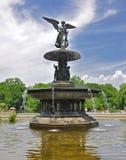 中央公园贝塞斯达喷泉 免版税图库摄影