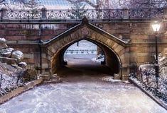 中央公园道路纽约 免版税图库摄影