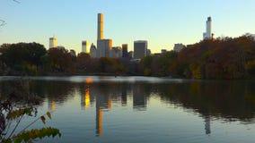 中央公园鸟瞰图,曼哈顿,纽约//27-10-2018 库存图片