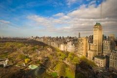 中央公园,曼哈顿,纽约秋天视图  免版税库存照片