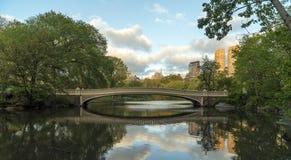 中央公园,纽约弓桥梁 图库摄影