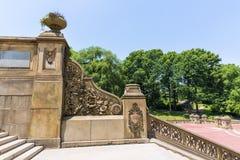中央公园贝塞斯达大阳台台阶纽约 免版税图库摄影