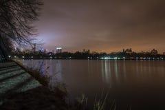 中央公园-曼哈顿,纽约看法  库存照片