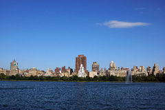 中央公园reservior 库存图片