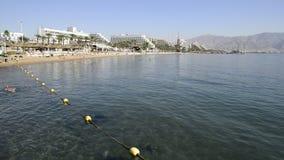 中央公开海滩在埃拉特,以色列 股票录像