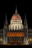 中央匈牙利议会耸立 免版税库存图片