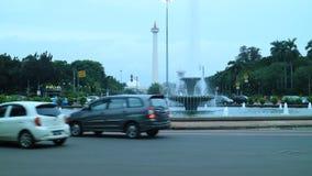 中央印度尼西亚雅加达merdeka monas纪念碑国民正方形 免版税库存图片