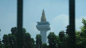 中央印度尼西亚雅加达merdeka monas纪念碑国民正方形 图库摄影
