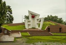 中央受难者纪念碑,锡尔赫特市,孟加拉国 库存图片