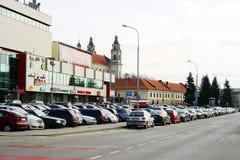 中央商店中心杯子在维尔纽斯市 图库摄影