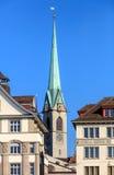 中央图书馆的塔在苏黎世 图库摄影