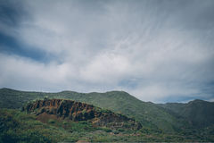 中央大加那利岛,从山的顶端看法 免版税库存图片