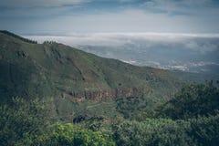 中央大加那利岛,从山的顶端看法 免版税图库摄影