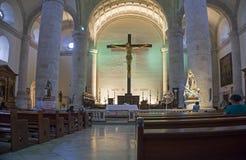 中央大教堂内部,梅里达,尤加坦墨西哥 免版税库存照片