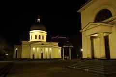 中央大教堂夜 库存照片