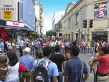 中央大道和市场,圣何塞,哥斯达黎加旅行 免版税库存图片