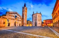 中央寺院二帕尔马,帕尔马,意大利 免版税库存图片