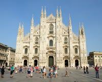 中央寺院二米兰,大教堂在米兰,意大利 库存照片