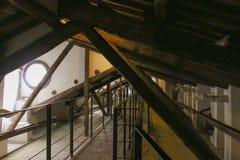 中央寺院二锡耶纳顶楼的看法 圣玛丽亚Assunta大城市大教堂  托斯卡纳 意大利 免版税库存图片