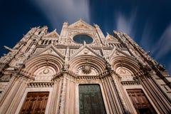 中央寺院二锡耶纳(锡耶纳大教堂) (锡耶纳,托斯卡纳 意大利) 免版税库存图片