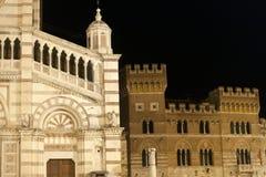 中央寺院二Grosseto和宫殿 免版税图库摄影