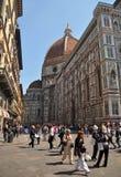 中央寺院佛罗伦萨意大利人访问 库存图片