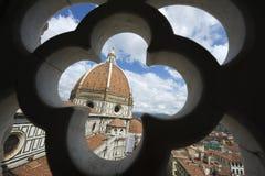 中央寺院佛罗伦萨意大利结构上详细资料 免版税图库摄影