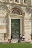 中央寺院入口比萨 库存照片