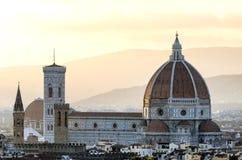 中央寺院圣玛丽亚台尔菲奥雷,佛罗伦萨,意大利 库存图片