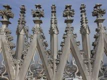 中央寺院大教堂在米兰,建筑细节 免版税库存照片