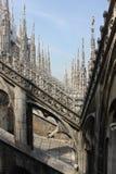中央寺院大教堂在米兰,建筑细节 免版税图库摄影