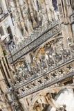 中央寺院大教堂屋顶在米兰 免版税库存照片