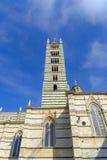 中央寺院的门面,锡耶纳,托斯卡纳,意大利 免版税库存照片