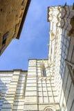 中央寺院的门面,锡耶纳,托斯卡纳,意大利 免版税库存图片