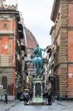 中央寺院看法从广场Santissima安农齐亚塔的 图库摄影